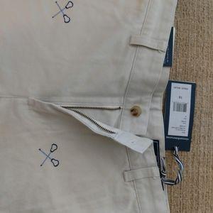 Boy's khaki embroidered club pants
